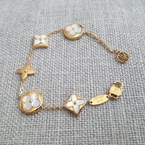 Louis Vuitton Color Blossom Bracelet Gold White